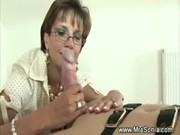 British mature domina is fond of gags