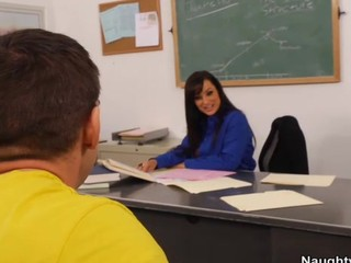 Lisa Ann Seduces Her Student and She Sucks His Cock Fucks Him