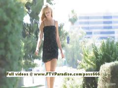 Lena Crazy Blonde Girl Public Flashing And Masturbating