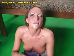 My Hot Skinny Blonde Wife Took Several Loads On Her Face From Some Horny Black Dudes