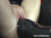 I love gigantic dildos stretching my huge ...
