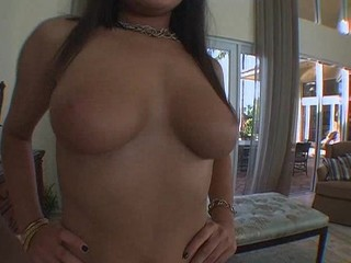 POV Busty Raven-Haired Teen Sucks and Fucks