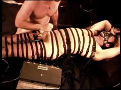 His Body Wrapped In Bands He Gets His Dick Punished By His Kinky Gay Lover