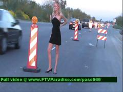 Lisa Gorgeous Blonde Girl On The Highway