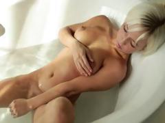 Beautiful Blonde Glamour Morning Shower