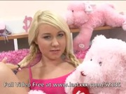 Small titted blonde teen fucks in bed