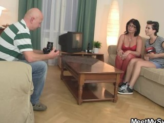 Perverted parents lure her into threesome