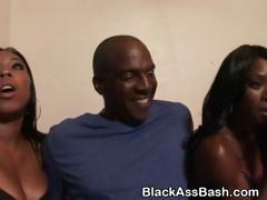 Dirty Black Ghetto Sluts Suck Dick Together In Threesome