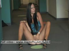 Tessa _ Amateur Brunette Toying And Fingering Her Pussy In A Public Place