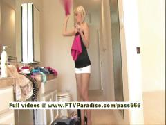 Christine Independent Sexy Blonde Girl Changing Her Clothes