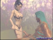 3D Hentai Girl Hot Sucking And Riding A Stiff