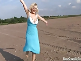 HomegrownBigTits Busty Blonde European Fucked Hard on Beach