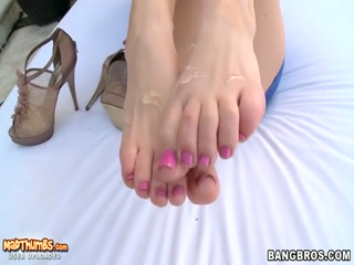 Busty Jayden Jaymes Uses Her Pretty Feet To Make This Cock Cum