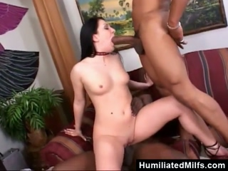 Hungry For Two Huge Black Dicks