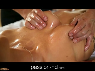 PassionHD Sensual Massage Makes Girl Horny For Cock