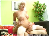 Blonde And Chunky Mature Fucked