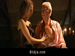 Lucky Grandpa Seduced By A Hot Busty Blonde Teen