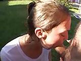 Bubbly girl swallows 8