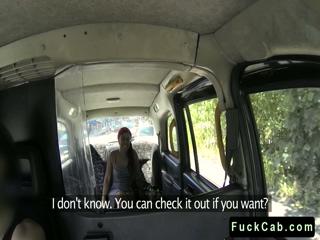 British ebony fucks in fake taxi