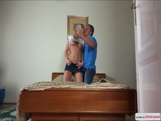 Blonde Lucy Hart gets her tight keyholes fuck for the first time