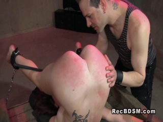 Bdsm slave spanked and vibed