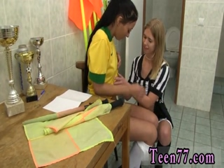 Emo teen movie girl Brazilian player pummeling the referee