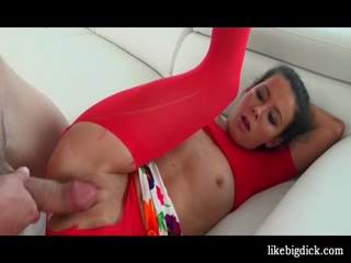 Teen in sexy body suit cunt pumped hard 2