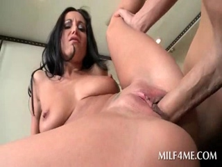 Dirty MILF spreads on the table and gets fucked