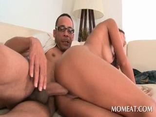 Sexy slut taking giant black dick hardcore