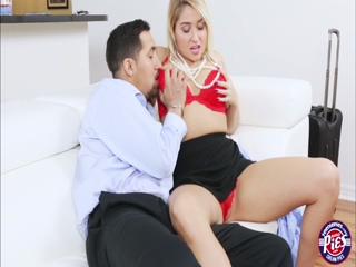 Huge hard dick gets to fuck Kimmys tight pink pussy