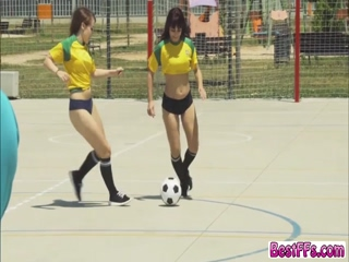 Player chicks in their hardcore sex act