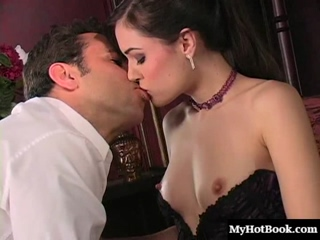 Sasha Grey is a beautiful long haired brunette, who has remarkably small but,