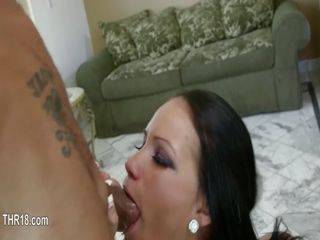 divinely huge cock in her tight mouth 5