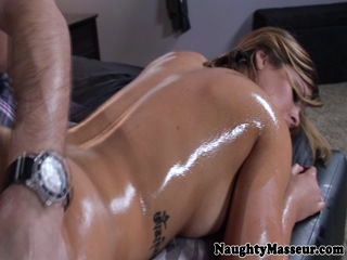 Hot Keisha Grey fucking after a massage