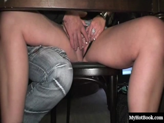 Ingrid starts getting naughty with her boyfriend at a cafe, where other patrons