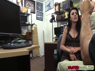 Hottie slutty collector gets good cash in the pawnshop
