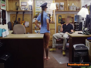 Bootyful latina nailed in the pawnshop