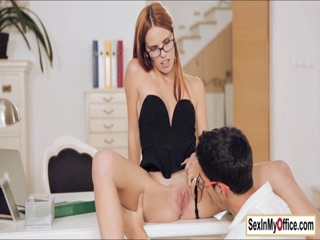 Euro boss Susana has cock for lunch