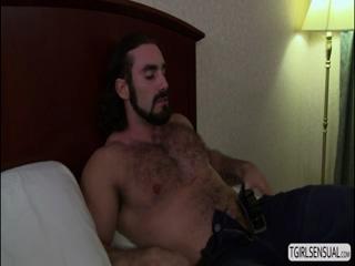 Hot sexy TS Foxxy cherish dick sucking