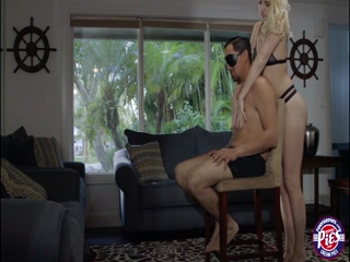 Sierra Nicole kneels down and sucks her stepdads big cock