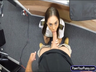 Latin stewardess drilled by pawn keeper