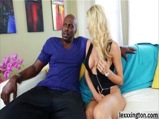 Blonde MILF Katie Morgan wet pussy fucks black cock