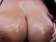 Oiled Up Babe Has Anal