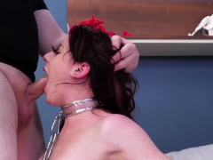 Brutal Teen Threesome Poor Audrey Gets Her Jugs Slapped