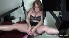 Chubby busty milf fucked by sex machine