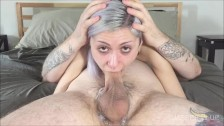 HD Deep Throat Fucking Jasper Blue Mouth Creampie