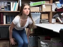 Slutty Teen Shoplifter Does A Flawless Blowjob For Freedom