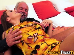 Teen Rimmed By Old Man