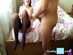 Romanian Webcam Girl Fucks Her Boyfriend