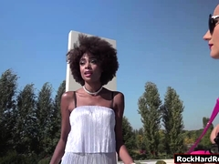 Ebony Luna And Kiki Shares One Big Cock